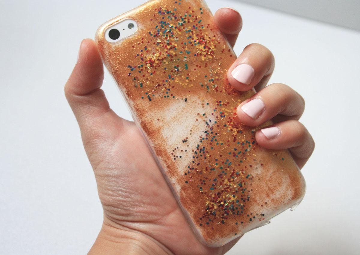 Glitter Everywhere Diy Iphone Case Aurora Borealis
