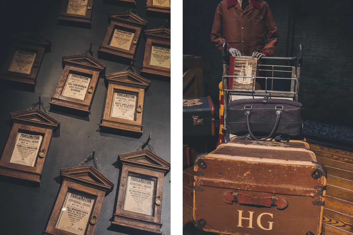 studio harry potter decret valise